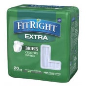 Medline FitRight Extra Adult Briefs with Tabs, Moderate Absorbency
