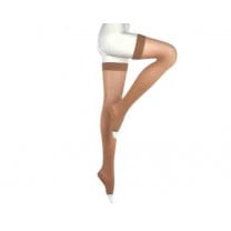 Mediven Comfort Thigh High Compression Stockings w/ Beaded Silicone Top Band OPEN TOE 20-30 mmHg