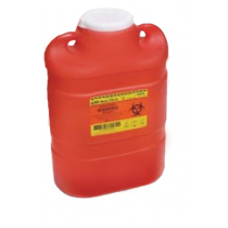 6.9 Quart Red BD Sharps Container Regular Funnel 300467
