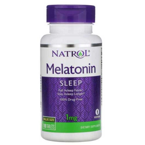Melatonin Tablets, 1 milligrams - Fast Dissolve Sleep Supplement