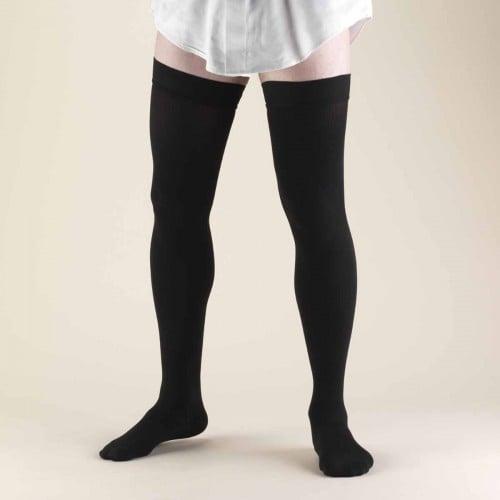 TRUFORM Men's Dress Thigh High Support Socks 20-30 mmHg