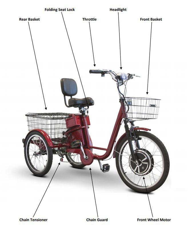 ewheels ew 29 electric trike 7ad