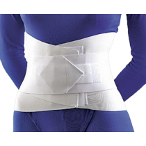 Lumbar Sacral Support with Overlapping Abdominal Belt