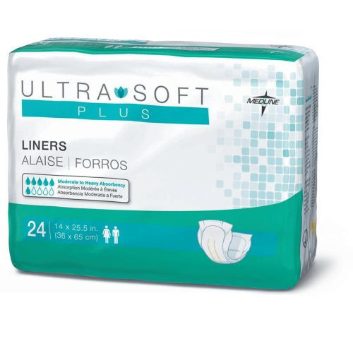 Medline Ultra-Soft Incontinence Liners with Moderate to Maximum Absorbency Levels
