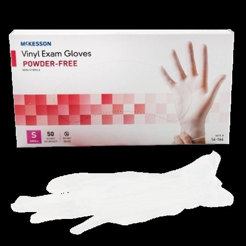 Mckesson Clear Vinyl Smooth Exam Gloves Powder Free - NonSterile