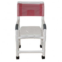 MJM PVC Shower Chair with Soft Removable Center Section