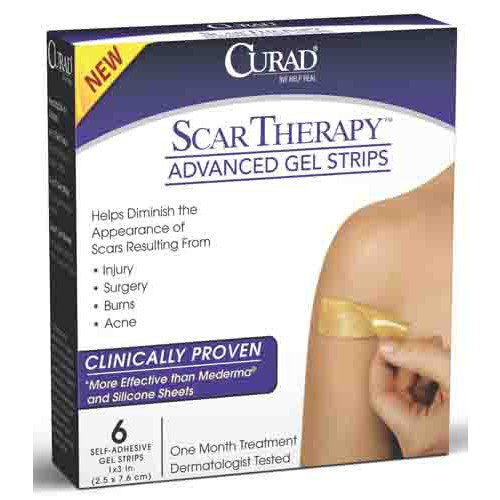 CURAD Advanced Scar Therapy Strips, Latex Free