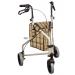 Winnie Lite Supreme Aluminum 3-wheeled Rollator Tan Frame with Plaid Bag