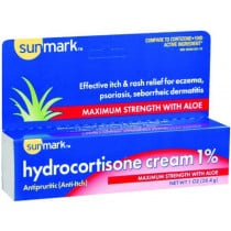 sunmark Itch Relief 1% Strength Cream 1 oz. Tube