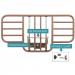 PB7035 ProBasics Half Bed Rail Components with Parts Display