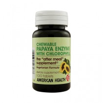 American Health Papaya Enzyme with Chlorophyll Chewable Dietary Supplement
