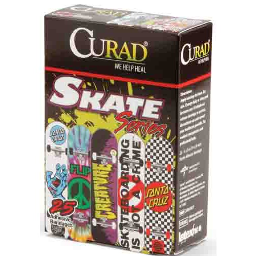CURAD Skateboard Adhesive Strips, Latex Free
