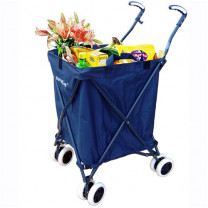 VersaCart Folding Utility Transit Cart Filled with Items