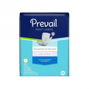 Prevail Pant Liners - Contoured Shape & Clear Window   First Quality