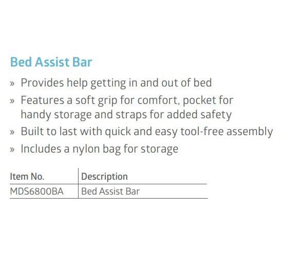 medline bed assist bar with storage pocket 9d4