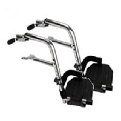 Invacare SwingAway Footrests with COMPOSITE Footplates