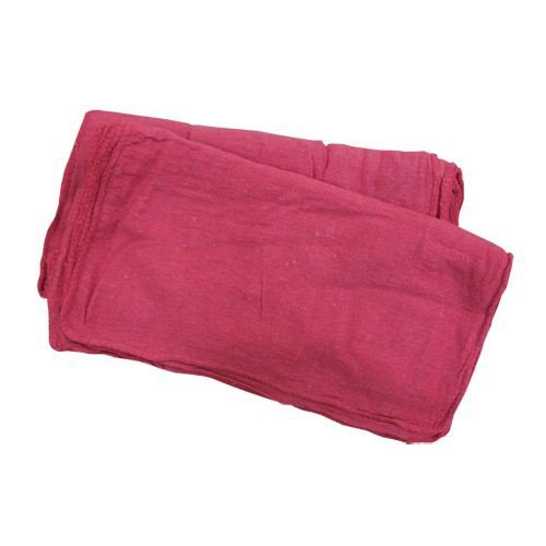 Red Shop Towel Washed