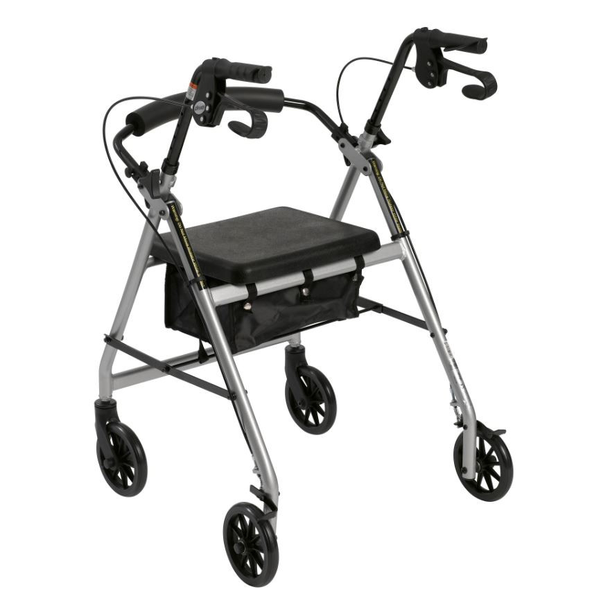 lightweight rollator with fold up and removable back support by drive c1c