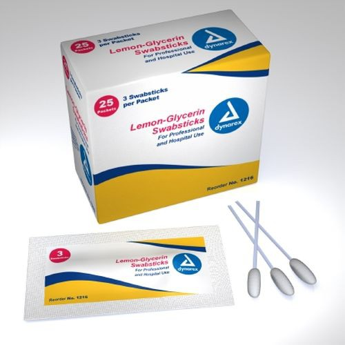 Dynarex Foam Tip Oral Swabsticks