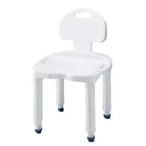 Universal Bath Shower Bench with Back