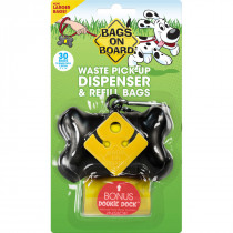 Waste Pick-Up Dispenser and Refill Bags with Dookie Dock