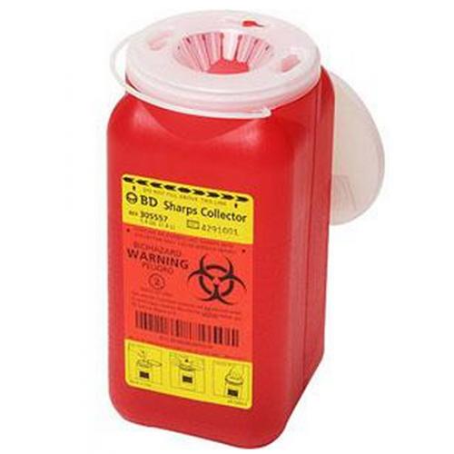 1.4 Quart Red BD Sharps Container Regular Funnel 305557