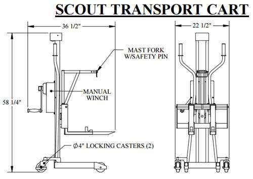 aqua creek pool lift transport cart ee4