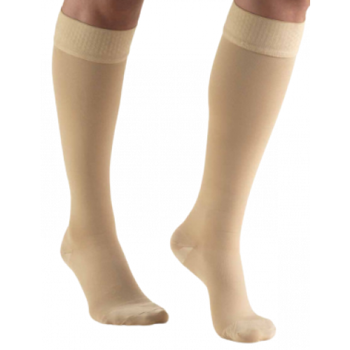 TRUFORM Classic Medical Knee High Silicone Dot Top CLOSED TOE 20-30 mmHg