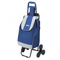 Deluxe Rolling Shopping Cart with Seat