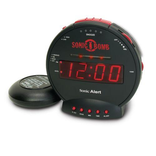 Sonic Alert Sonic Bomb SBB500ss Vibrating Alarm Clock