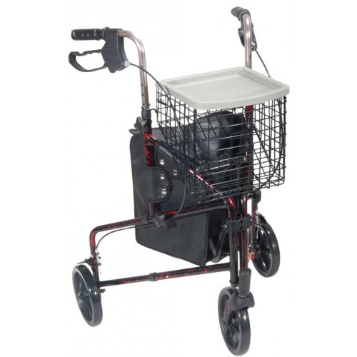3 Wheel Aluminum Rollator Walker