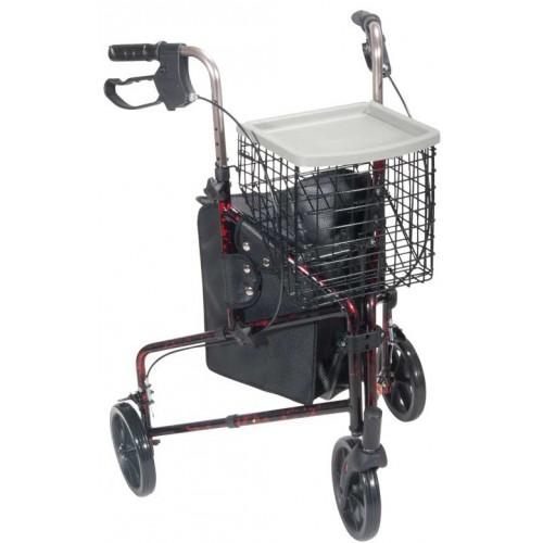 3 Wheel Aluminum Rollator Walker