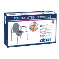 Steel Folding Frame Commode - Retail Packaged