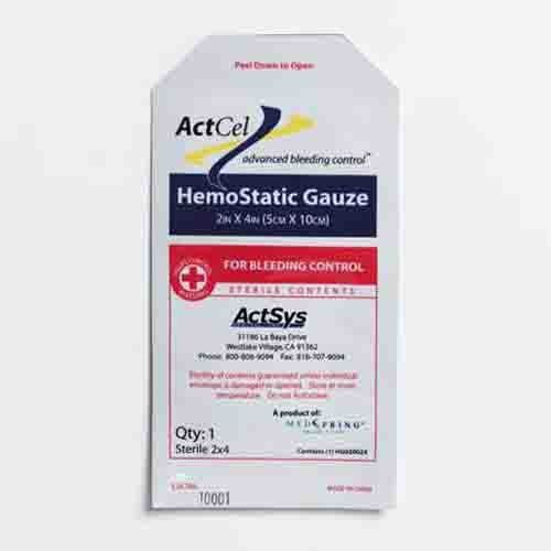 ActCel 4 x 4 Inch Topical Hemostatic Dressing Gauze Sterile - 79316