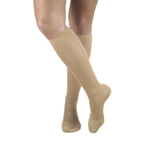 TruForm Opaque Knee High Closed Toe 15-20 mmHg