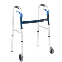 Deluxe Trigger Release Folding Walker by Drive Medical - Junior and Adult Sizes