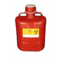 Sharps Container 10 Quart Red with Locking Cap