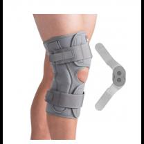 Hinged Knee Brace ROM Color: Grey