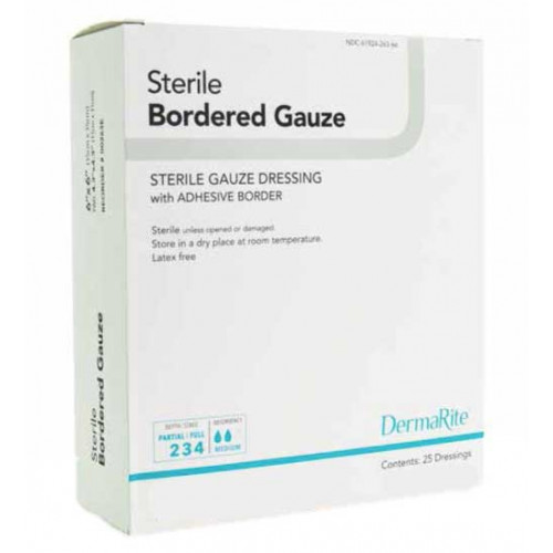 Sterile Bordered Gauze Dressing with Adhesive Border