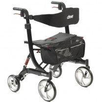 Drive Medical Nitro Heavy Duty Euro-Style Walker Rollator -RTL10266HD-BK