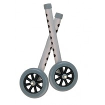 """Drive 5"""" Walker Wheels with Two Sets of Rear Glides for Use with Universal Walker"""