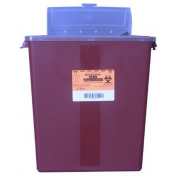 McKesson 3 Gallon Red Sharps Disposal Container with Horizontal Entry Lid 101-8710