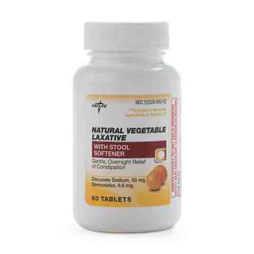 Medline Senna S Natural Vegetable Laxative Tablets W Stool