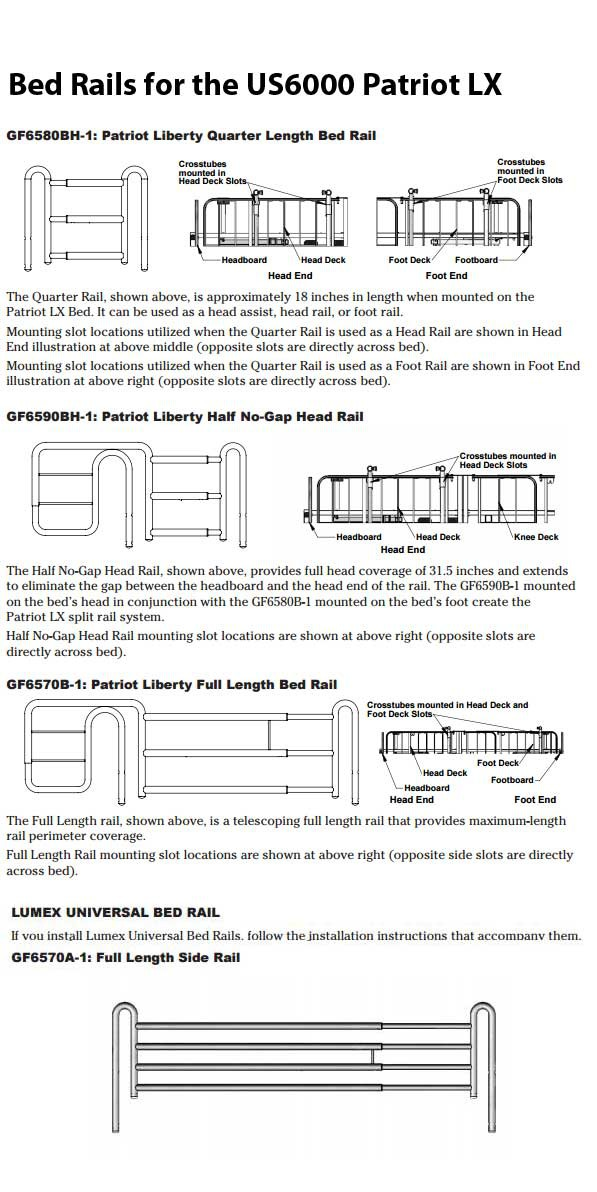Lumex Patriot Semi Electric Low Hospital Bed