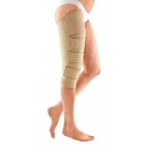 Upper Leg with Knee Compression Wrap