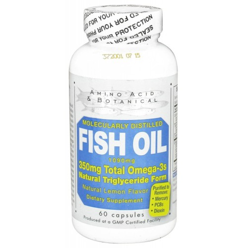 Amino Acid and Botanical Fish Oil Dietary Supplement 1090 mg