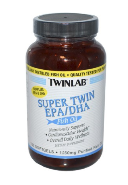 Bottle of TwinLab Fish Oil