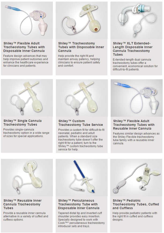 Shiley Trach Tube Types