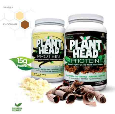 Bottle of Plant Head Protein Powder