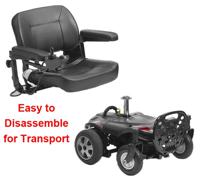 Disassebled Portable Electric Wheelchair